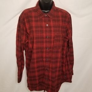 The North Face  plaid flannel shirt
